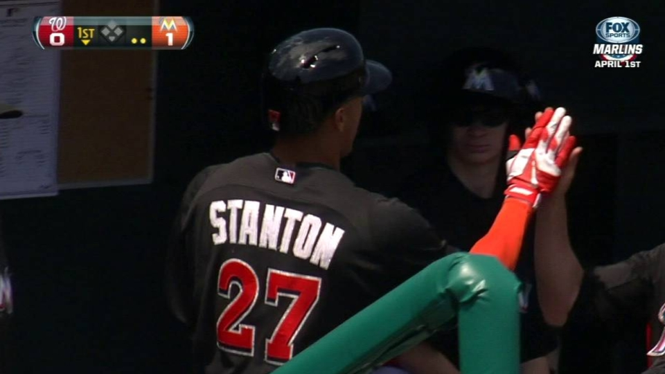 Stanton's solo shot