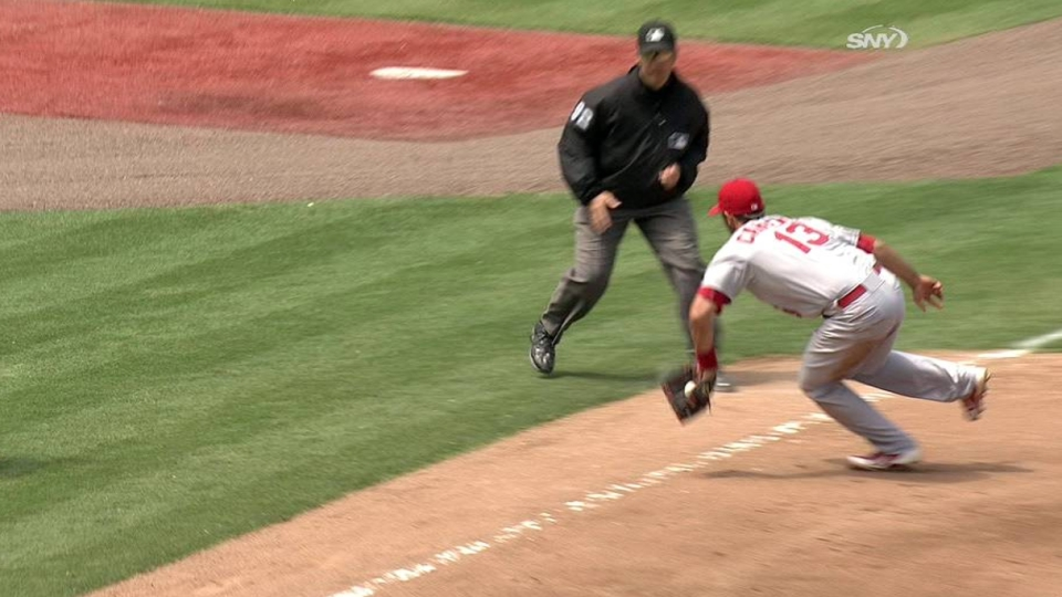 Carpenter's backhanded play