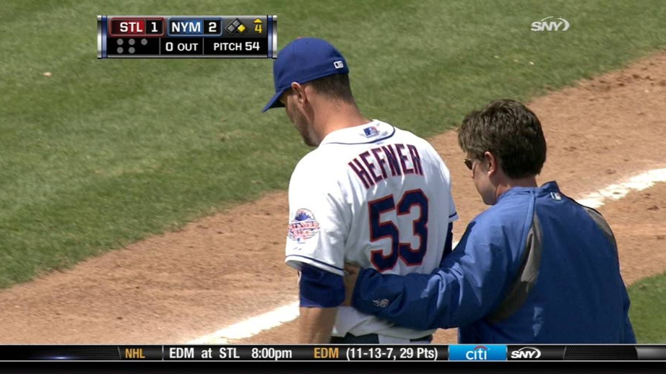 Hefner's injury