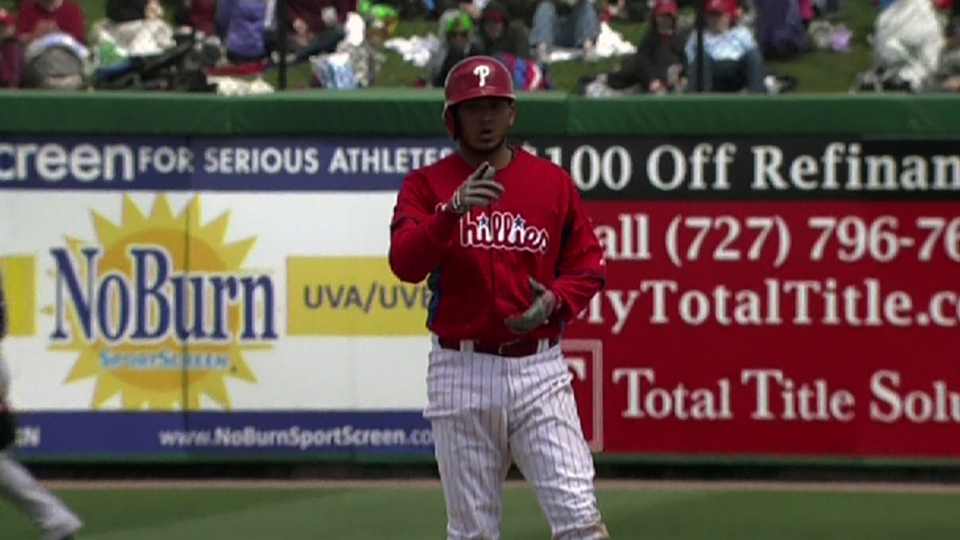 Galvis on playing the outfield