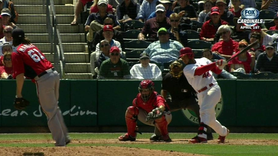 Cruz's fourth-inning RBI single