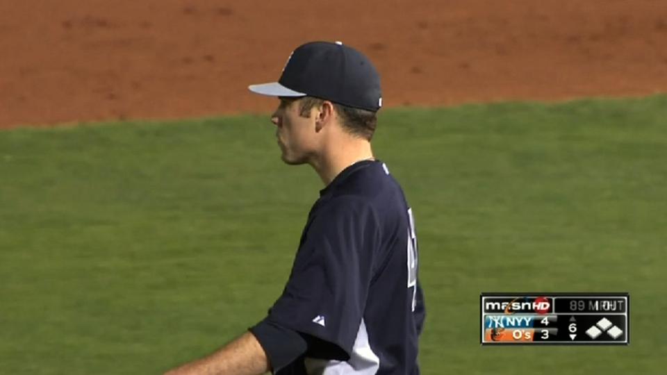 Phelps' nine strikeouts