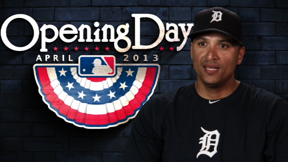 Victor Martinez on Opening Day