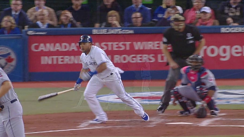 Melky's first Blue Jays hit