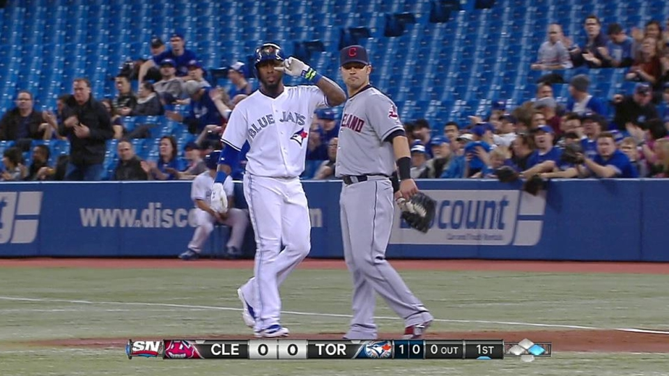 Reyes' first hit as a Blue Jay