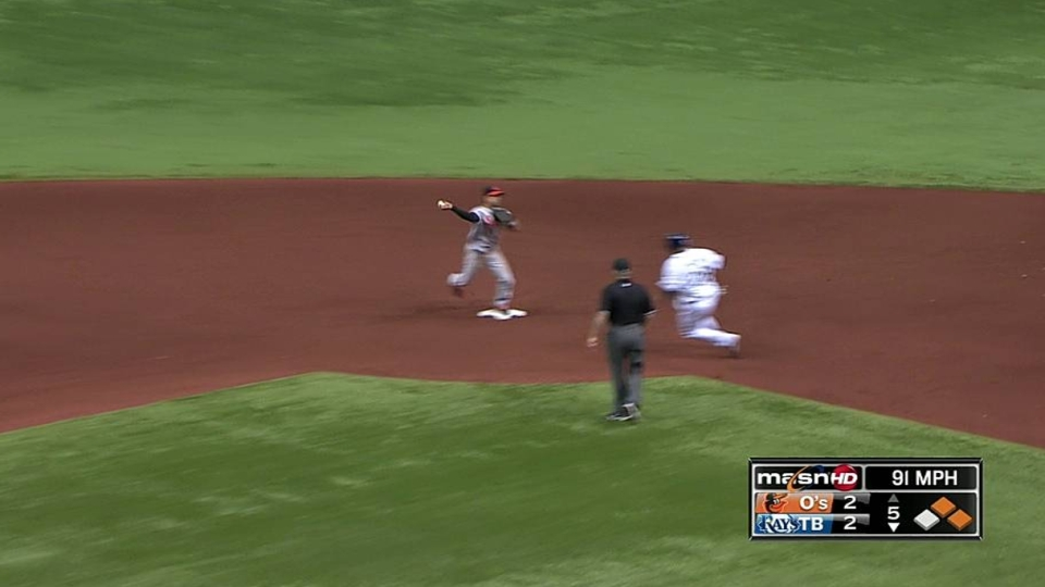 Orioles turn double play