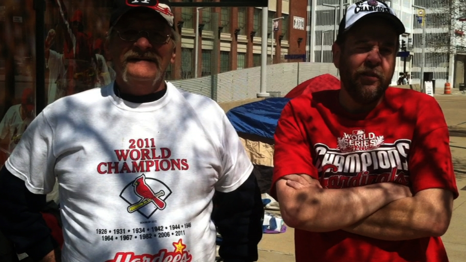 Cards fans camp out for tickets