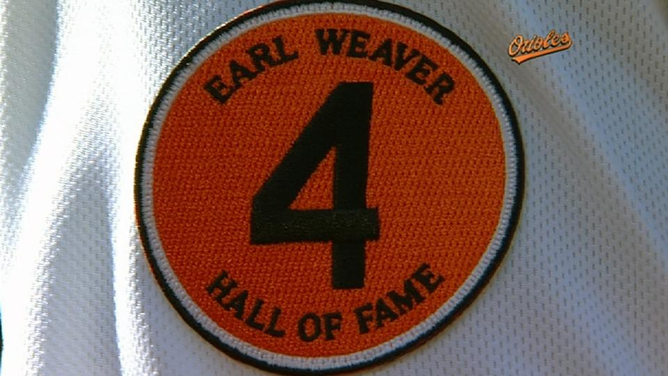 Orioles honor Earl Weaver