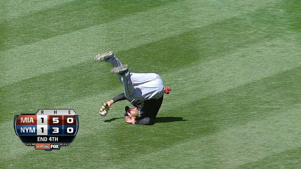 Stanton's diving grab