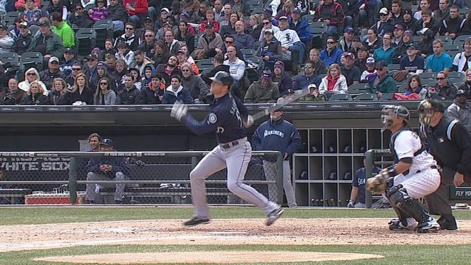 M. Saunders' two-run homer
