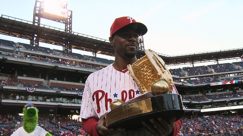 Rollins receives Gold Glove