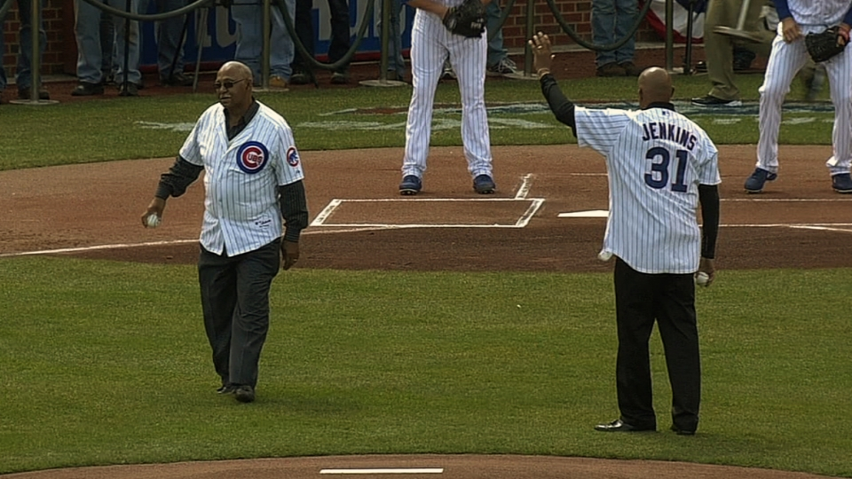 Jenkins, Williams' first pitches