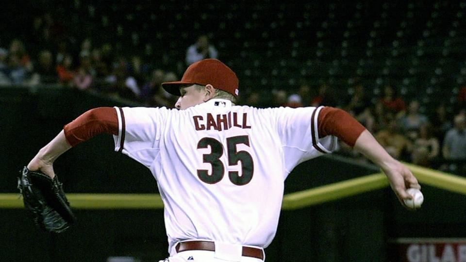 Cahill's seven strikeouts