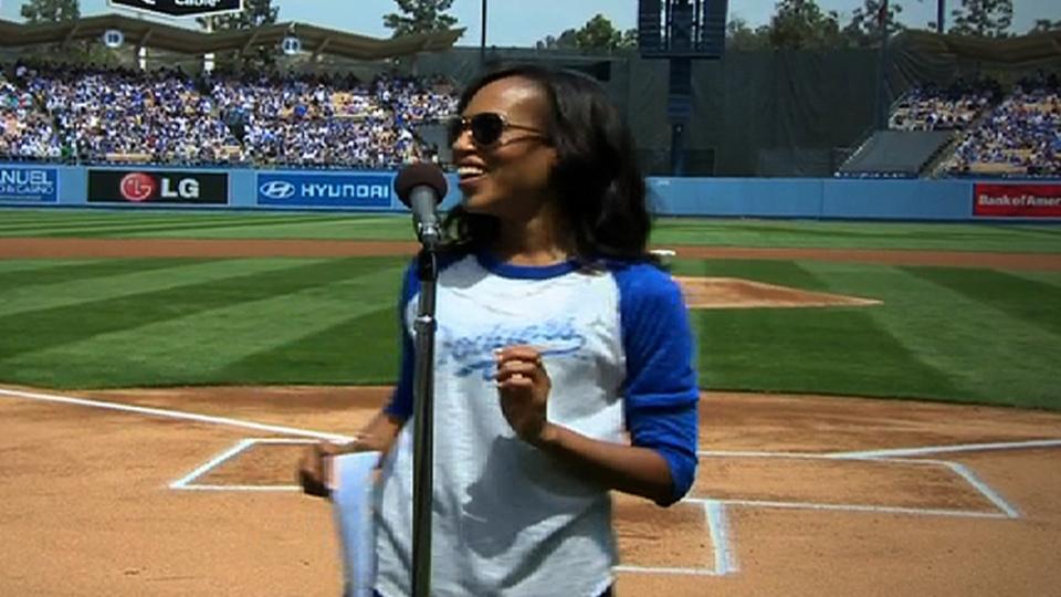 Kerry Washington intros Dodgers