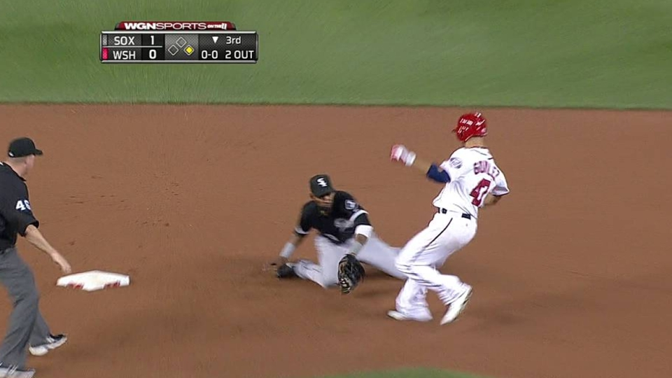 Rios throws out second runner