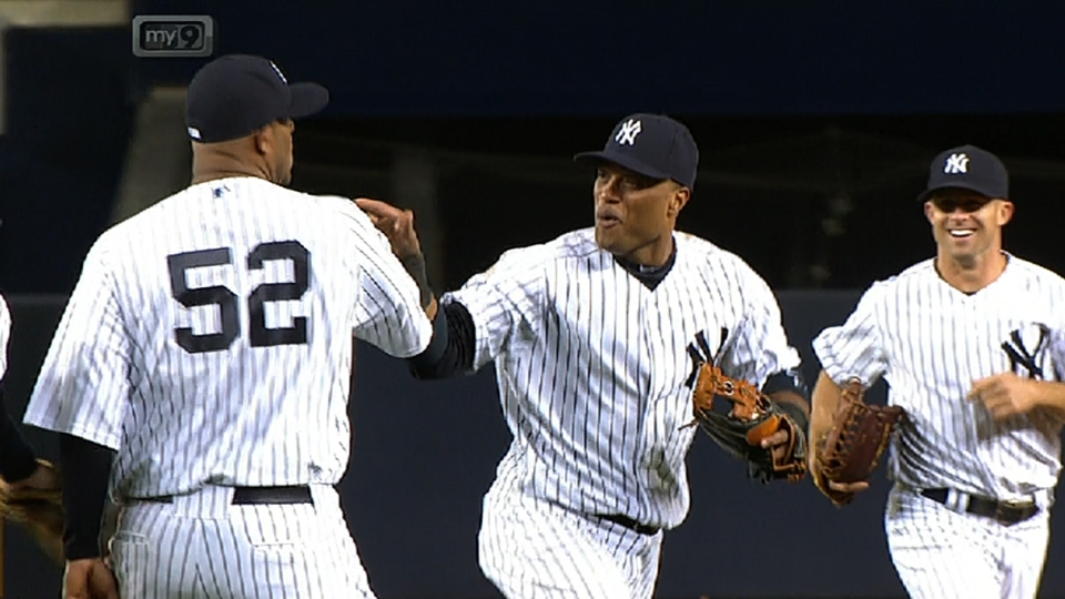 CC, Youk on win, triple play