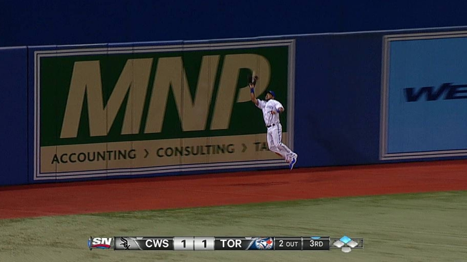 Melky's leaping catch