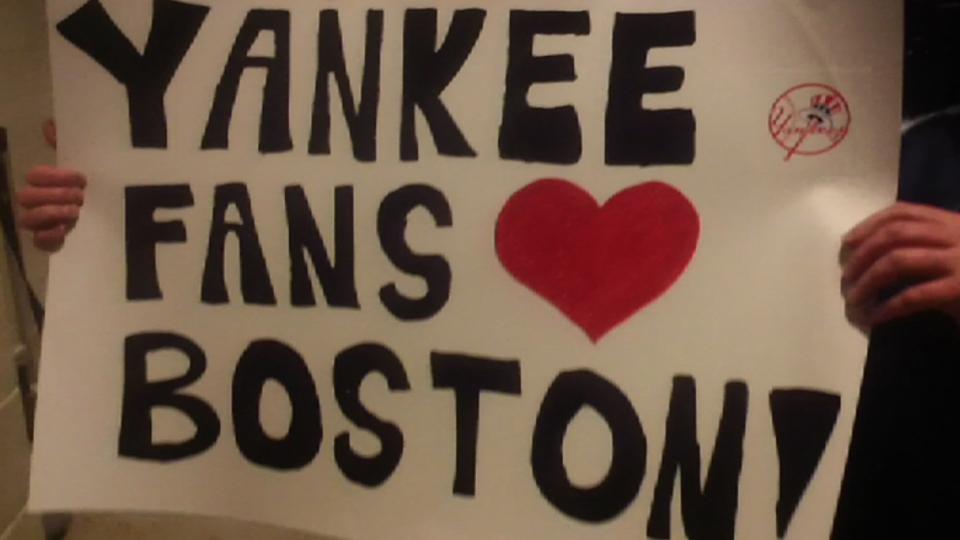 Yankees fans on Boston tribute