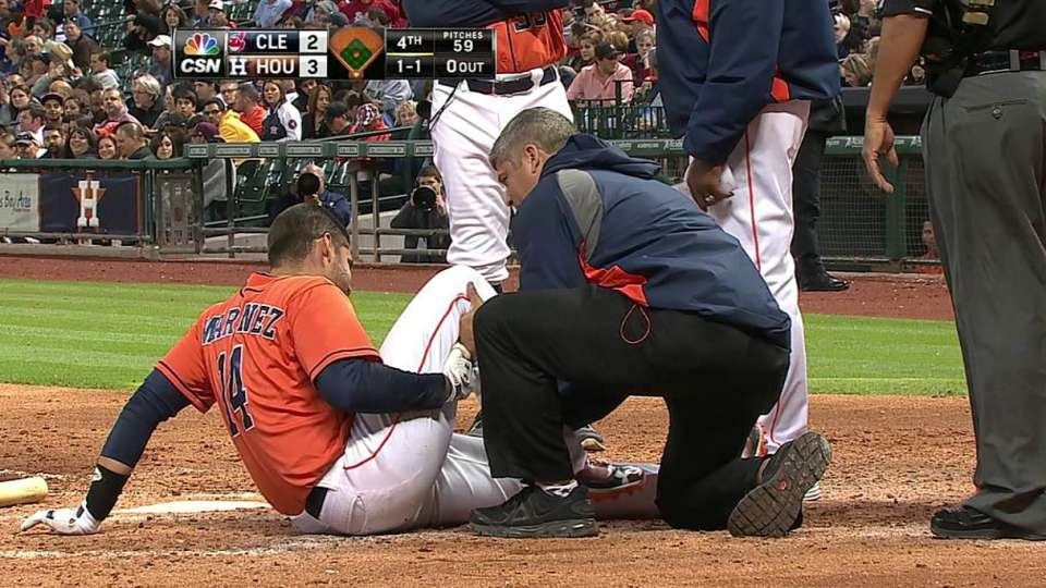 Martinez exits with injury