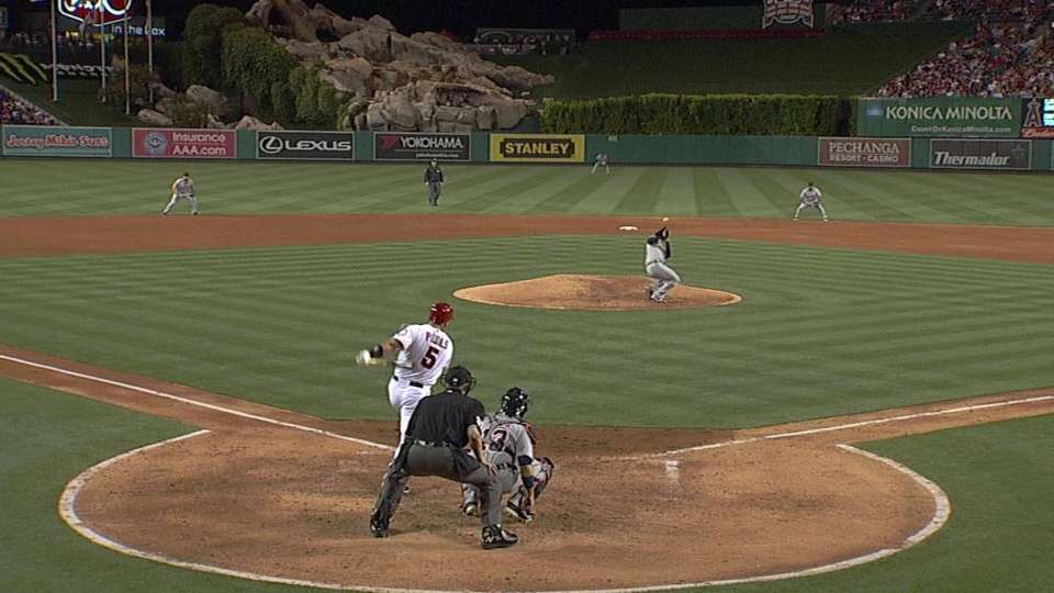 Sanchez's close call with liner