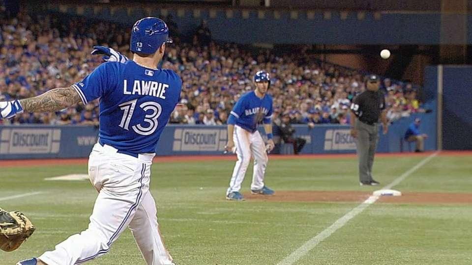 Lawrie's two-run double