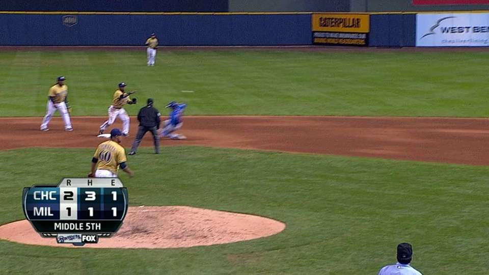 Segura turns double play