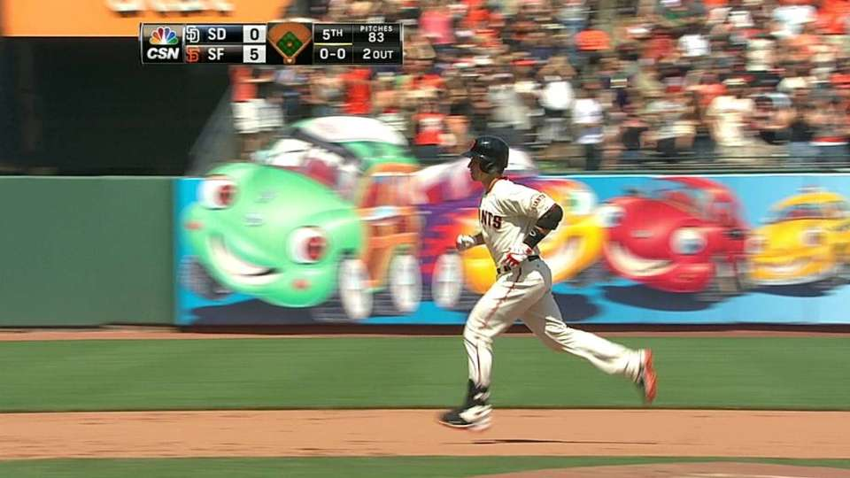 Posey's two-run homer