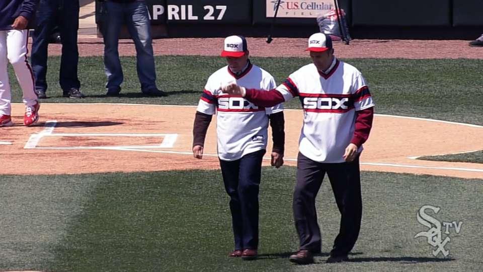 Squires, Dybzinski's first pitch
