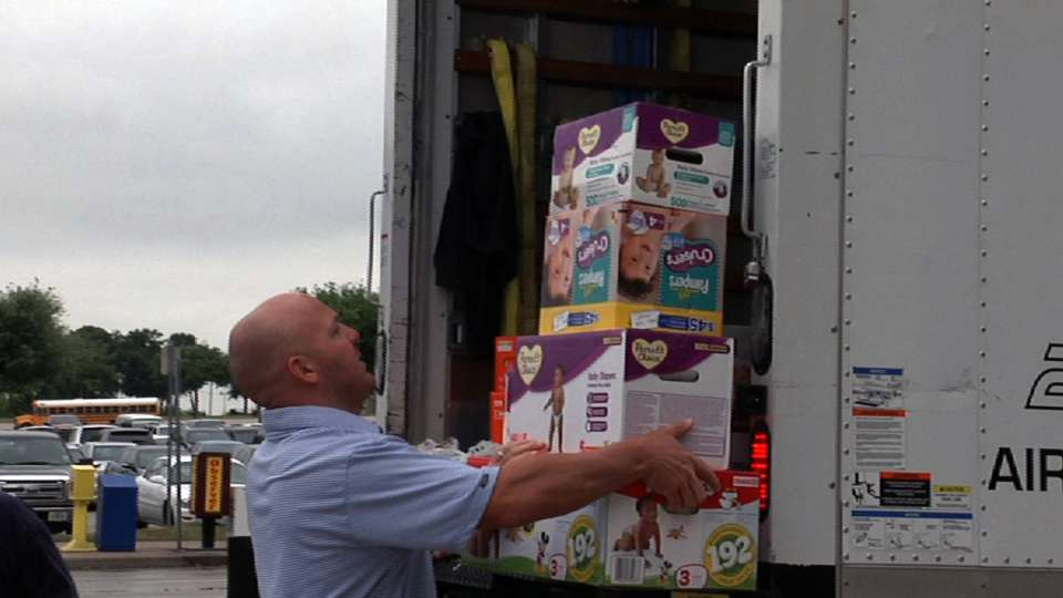 Rangers collect relief items