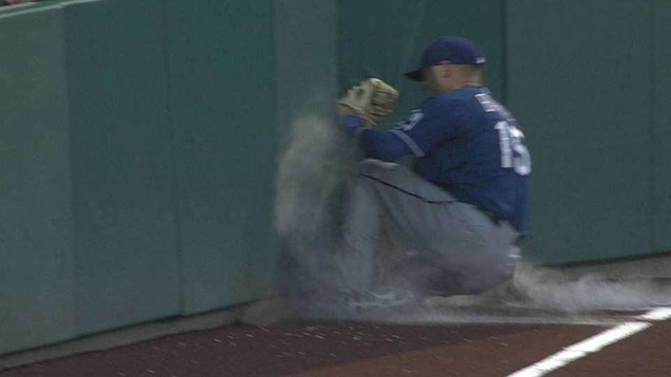 Baker's great catch, injury