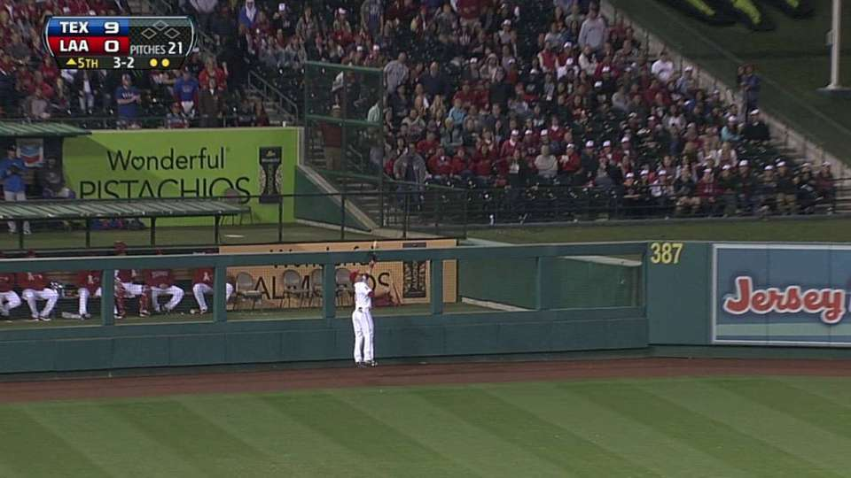 Trout's leaping catch