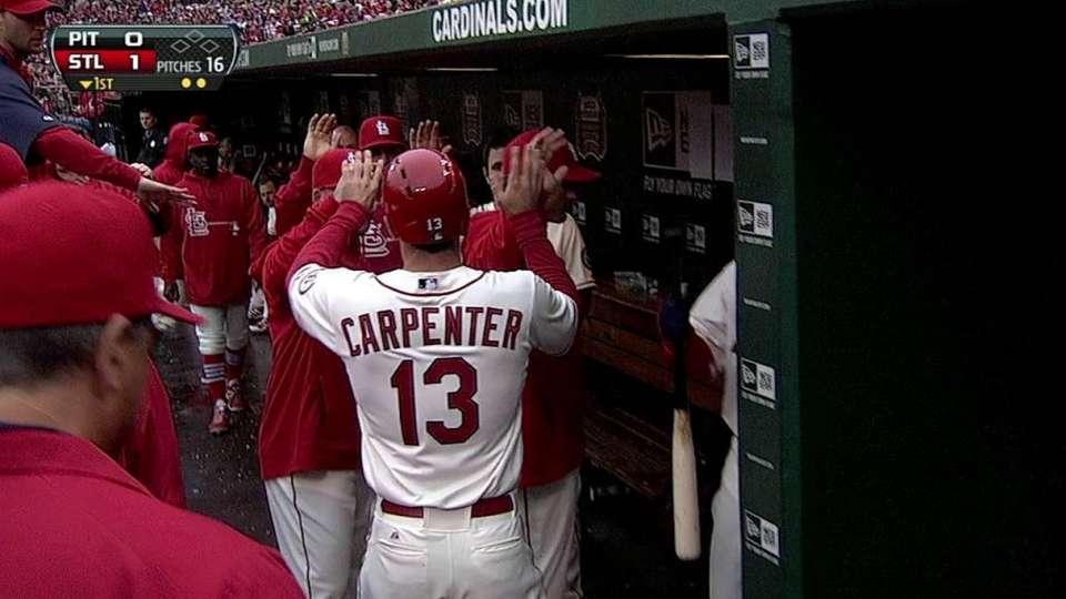 Carpenter scores first run
