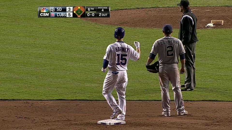 Barney's second RBI double