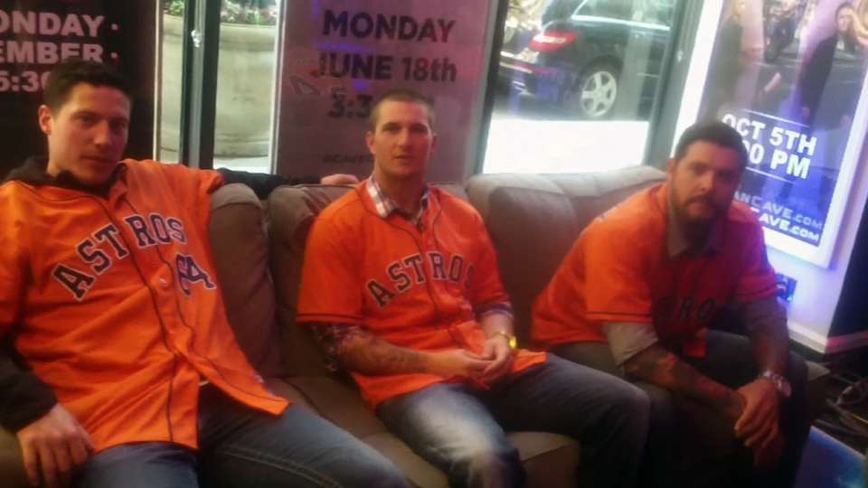 Astros players visit Fan Cave