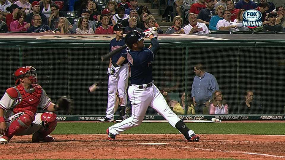 Indians launch seven homers