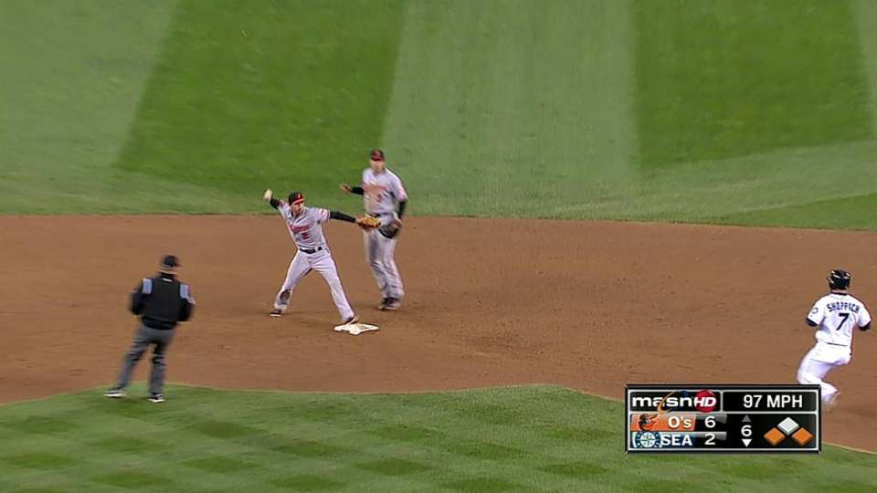 Hunter induces double play