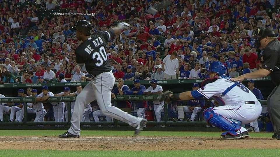 De Aza's two-run homer