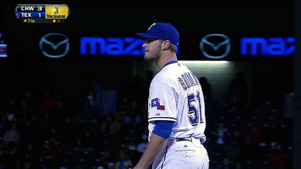 Grimm's nine strikeouts