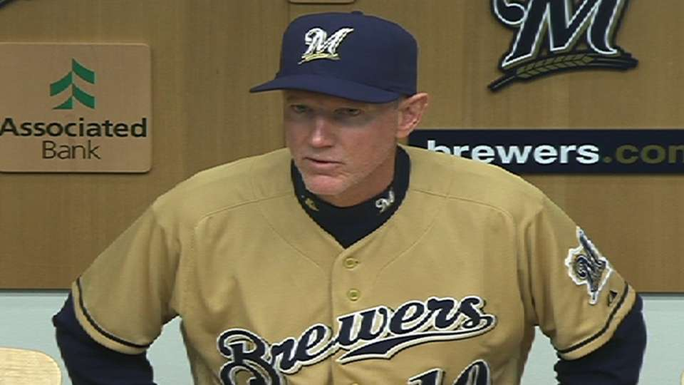 Roenicke on Brewers' tough loss