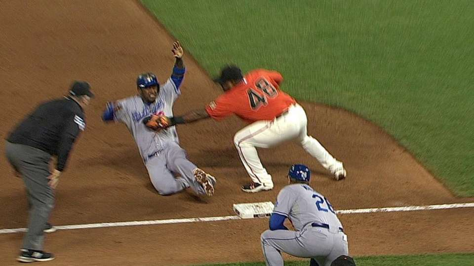 Pence throws out Hanley