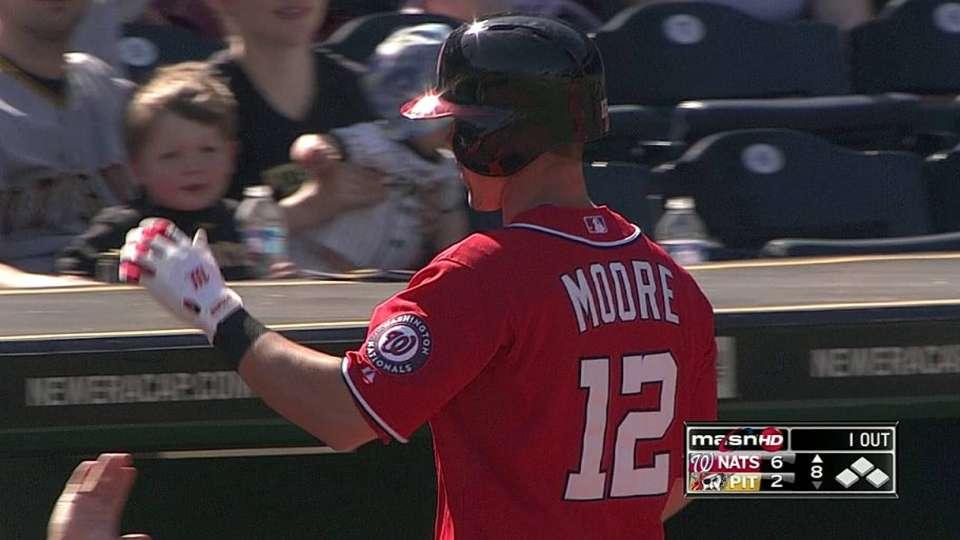 Moore's three-run homer