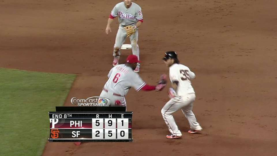 Howard turns pretty double play