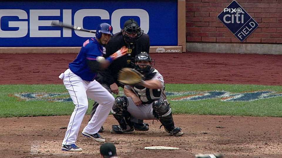Valdespin hit by pitch