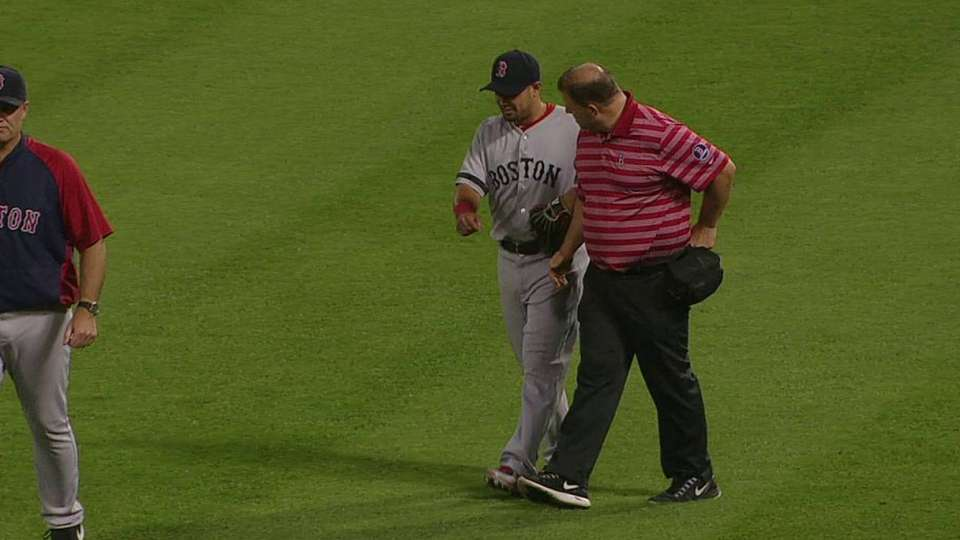 Victorino exits with injury