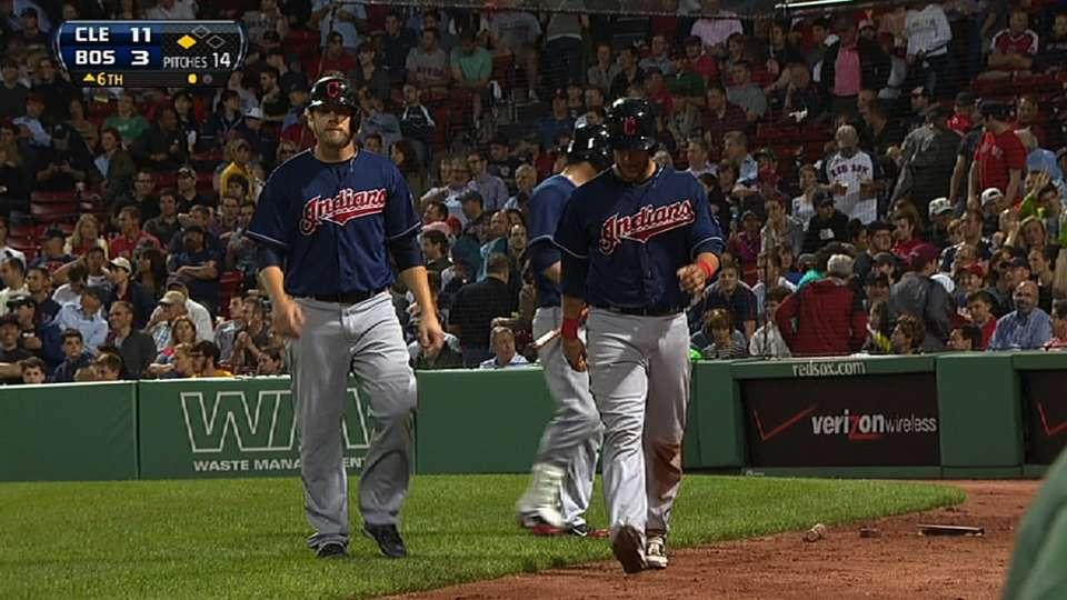 Indians' six-run sixth