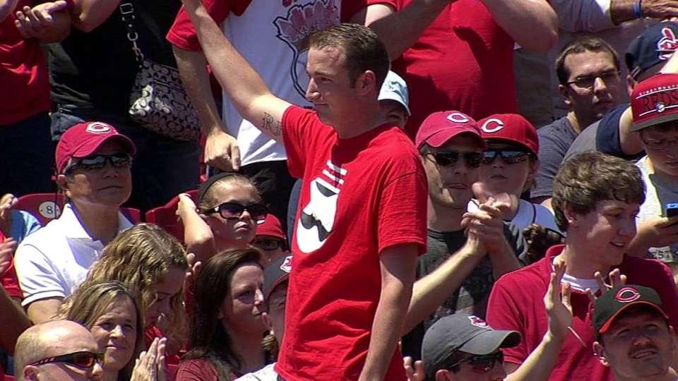 Reds honor hometown hero