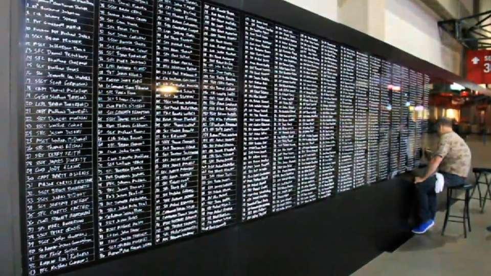 Veteran memorizes names