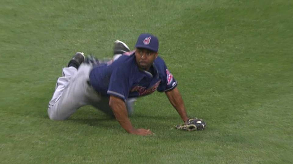 Bourn's sliding catch
