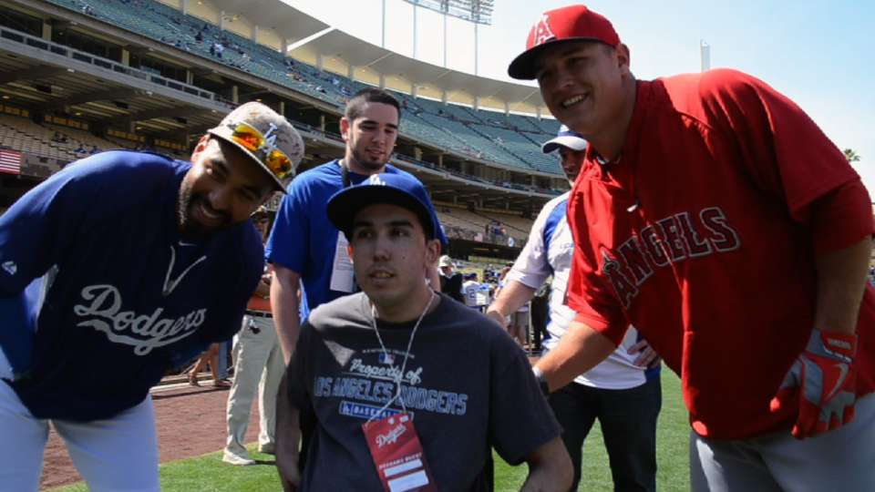 Mike Trout meets Joshua Jones