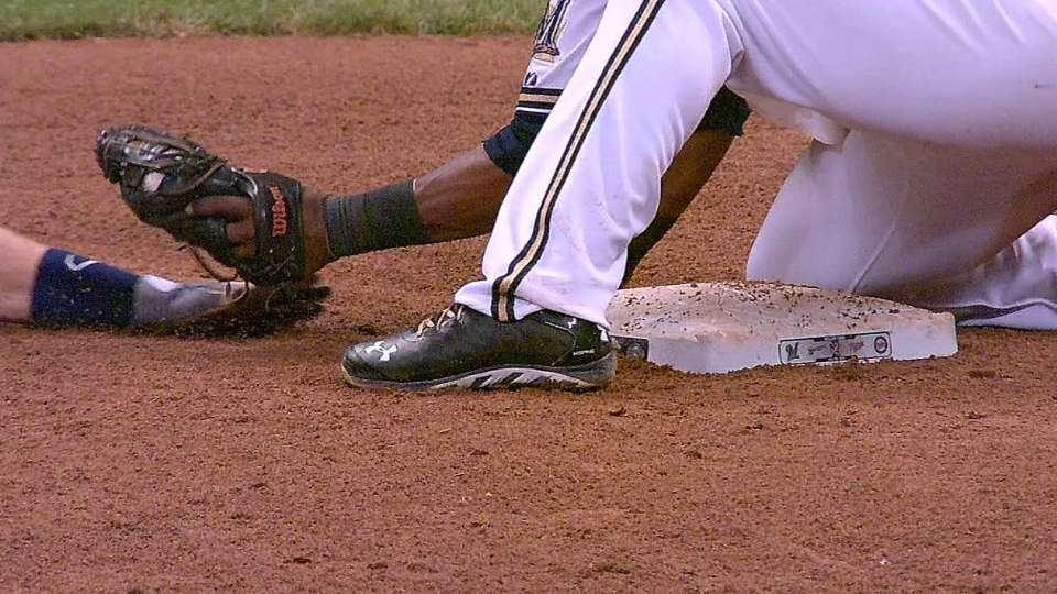 Brewers turn double play